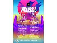 2 x Radio 1 - Biggest Big Weekend tickets - Sunday.