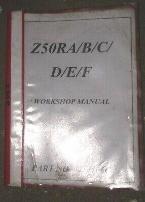 HONDA Z50RA - A - B - C - D - E - F  WORKSHOP MANUAL