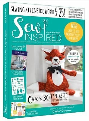 Crafters Companion Sew Inspired Magazine Issue 9 Autumn MAG-SI9