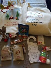 Personalised Christmas Eve Bag With or Without Items Inside