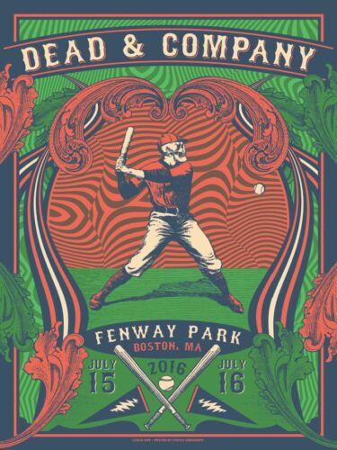 2016 GRATEFUL DEAD & COMPANY BOSTON FENWAY CONCERT POSTER #/100 7/15 7/16 AE