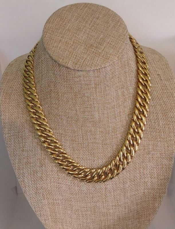 Vintage Jewelry Signed NAPIER Pat# 4.774. 743 Chain Necklace. 3189