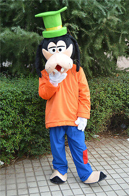 2018 Cosplay Goofy Dog Mascot Costume Adults Size Halloween Party Dress Outfits