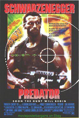 PREDATOR MOVIE POSTER Ultra RARE!!!! Original 27x41 Rolled ARNOLD SCHWARZENEGGER