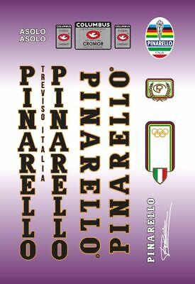 PINARELLO ASOLO FRAME DECAL SET WHITE WITH DOLMEN