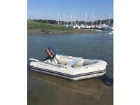 Inflatable riverboat / tender with 4hp Mariner outboard