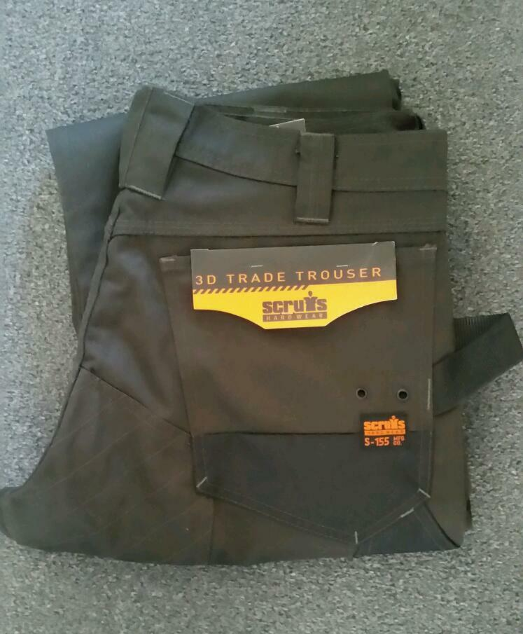 SCRUFFS TRADE WORK TROUSERS WAIST SIZE 34
