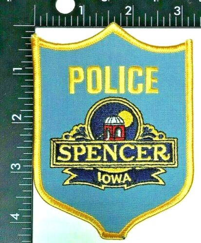 SPENCER IOWA POLICE DEPARTMENT SHOULDER SLEEVE INSIGNIA PATCH (PD 2)