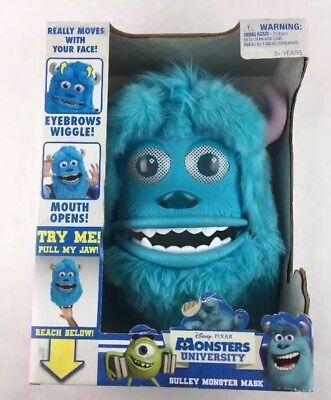 Monsters Inc Sulley Monster Mask Pixar Movable Costume Halloween New L1 - Sulley Monsters Inc Halloween Costume