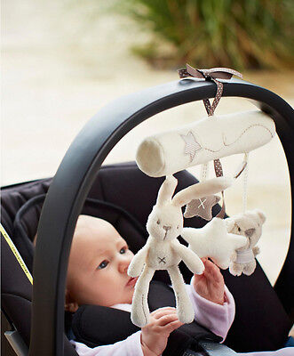 Baby stroller Crib Bed Rattle Music Hanging Bell Developmental Plush Toy Gift KY