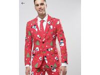 Full Christmas suit inclu. Jacket, tie and trousers (M)