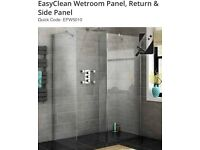 Premium EasyClean wet-room panel, return & slide panel