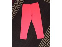 Size 10 pink cropped leggings worn once