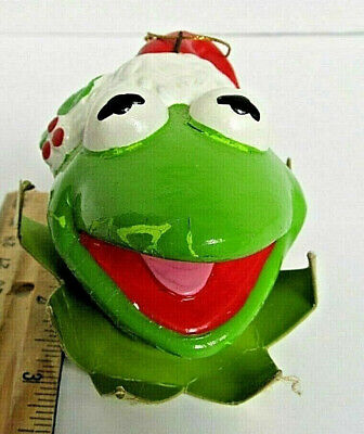 Rare- Kermit the Frog - MUPPET Christmas Ornament - vintage 1981 - 2 1/2 in high