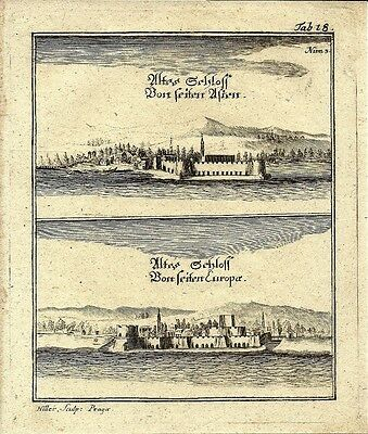 Antique engraving, Reitschloss plate 18
