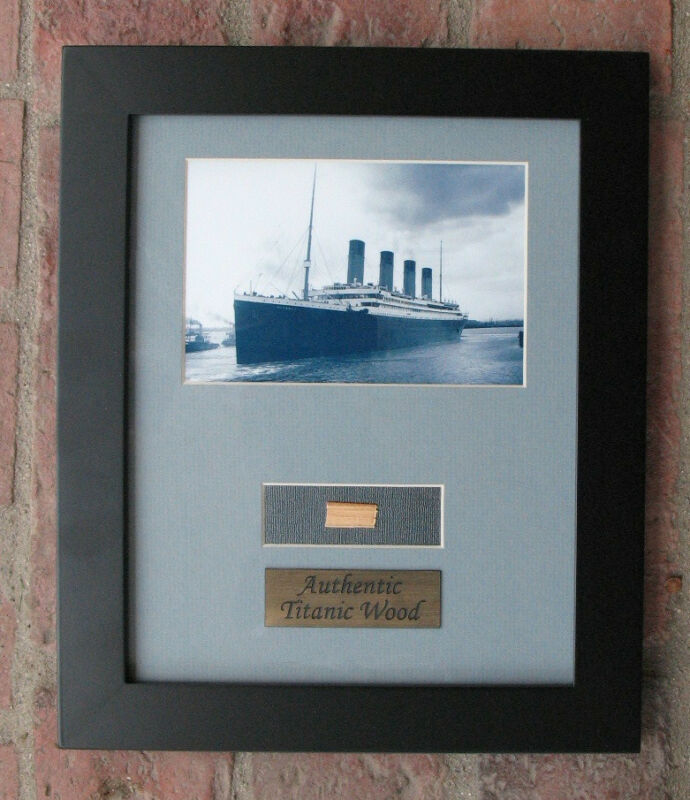 Authentic Titanic Wreck Wood Framed Artifact Relic - White Star Line