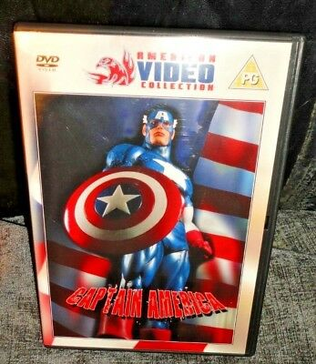 Captain America The Movie (DVD, 1990) Ned Beatty FAST & FREE - 1990 Captain America Movie