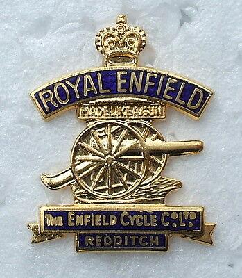 ROYAL ENFIELD MOTORCYCLE ENAMEL LAPEL PIN BADGE. 20x26mm.