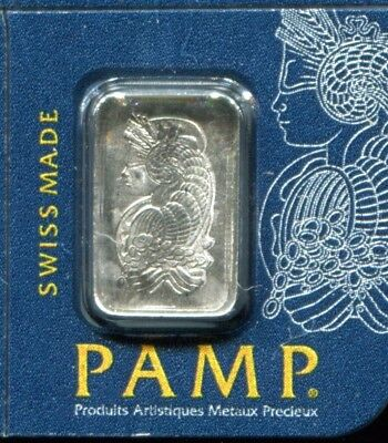 1 Gram Platinum Pamp Suisse Bar .9995 Fine Multigram Fortuna in Sealed Assay