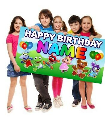 Muppet Babies Happy Birthday Poster Banner Personalized Customized