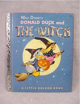 """Donald Duck and The Witch ~ Little Golden Book """"A""""  1st Ed"""