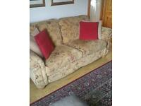 Large 3 seater and chair