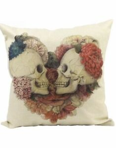 Two brand new skull pillow covers 17x17 inches obo