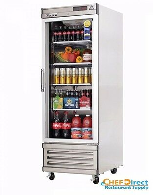 Everest Ebgr1 27 One Section Glass Door Upright Reach-in Refrigerator