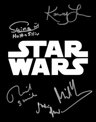 "Star Wars 10"" x 8"" poster photograph signed In Person by 5 - RARE!!!! - #247"