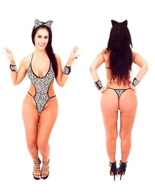 SEXY LEOPARD WILD FELINE EXOTIC BRAZIL FANTASY WOMENS ADULT HALLOWEEN COSTUME