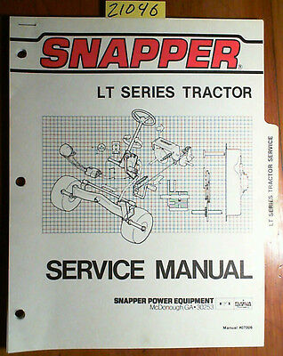 Snapper LT Series Tractor Service Manual #07006 5/84