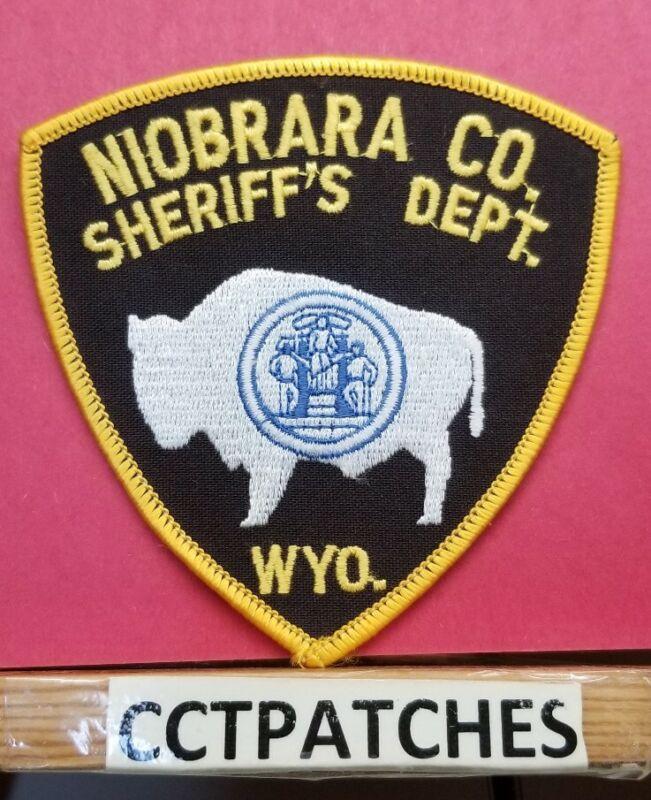 NIOBRARA COUNTY, WYOMING SHERIFF (POLICE) SHOULDER PATCH WY