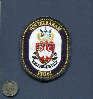 USS Ingraham Challenge Coin FFG-61 US Navy Fast Frigate USN Ship Guided Missile