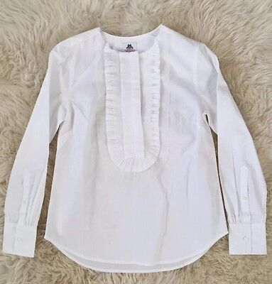 COLLECTION THOMAS MASON FOR JCREW RUFFLE-FRONT POPOVER 00 F5840 $198 NEW