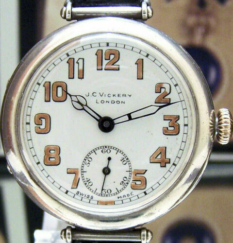 ANTIQUE 1918 SOLID SILVER MILITARY LONGINES TRENCH WATCH WW1 LEAGUE OF NATIONS ?