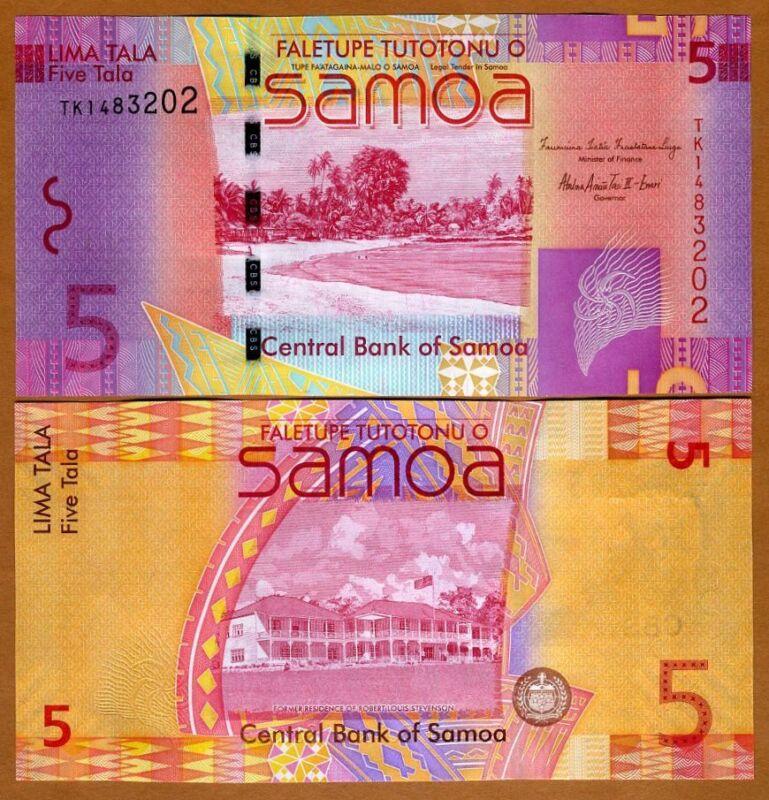 Western Samoa, 5 Tala, ND (2012), P-38 (38b), New Sign., UNC