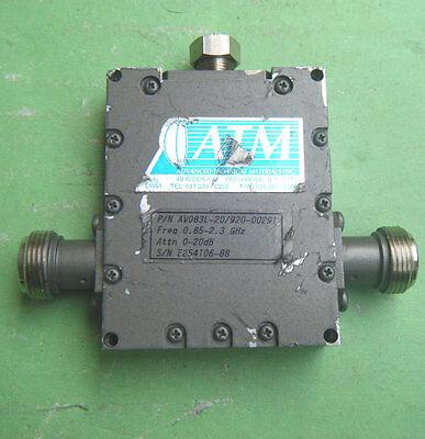 1pc ATM AV083L-20/920-00291 20dB 0.85-2.3G N Precision fine-tuning attenuator