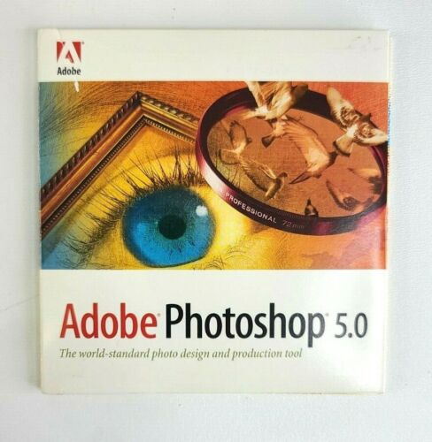 Adobe Photoshop 5.0 CD with Product Key