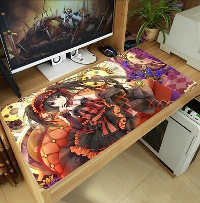 New Date A Live Kurumi Tokisaki Playmat Large Mouse Pad Keyboard Mat Custom Gift Custom Large Mouse Pad