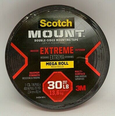 3m Scotch Extreme Mega Roll Ds Mounting Tape 1 X 400 Hold Up To 30lbs
