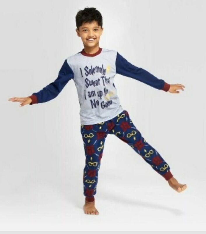 Kids Harry Potter Pajama Set I Solemnly Swear Size 4
