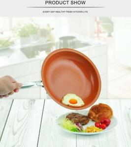 Non-stick Copper Frying Pan with Ceramic Coating and Induction Cooking Frying Red Pan