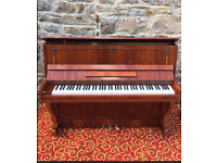 Modern Hoffman Upright Piano, Fitted With Quite Practice, Possible Delivery.