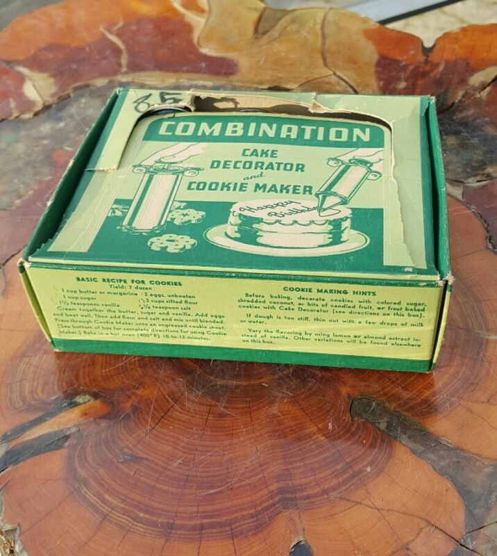 Vintage - Combination Cake Decorator And Cookie Maker