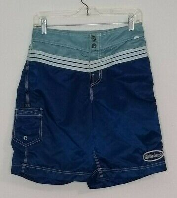 Billabong Boardshorts Nylon (Billabong 54th St  RARE Shiny Vtg 100% Nylon Made USA Board Shorts Size 29 EUC)