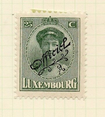 Luxembourg 1921-22 Early Issue Fine Mint Hinged 25c. Official Optd 253202