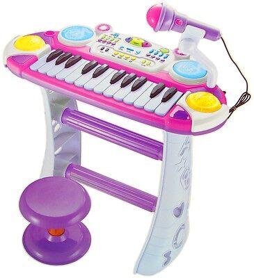 Kinder Piano in pink Keyboard Spielzeug Klavier Kleinkind Musikinstrument