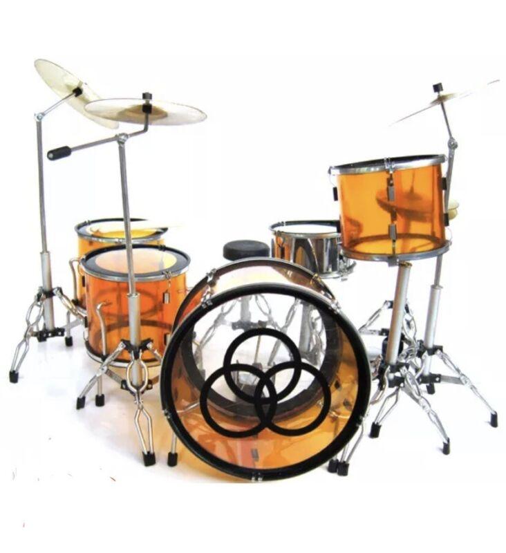 John Bonham Drum Kit Led Zeppelin Collectible Vistalite Drum Kit Mini Replica
