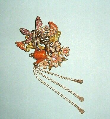 KIRKS FOLLY FAIRY ANGEL WITH WATERING CAN BROOCH