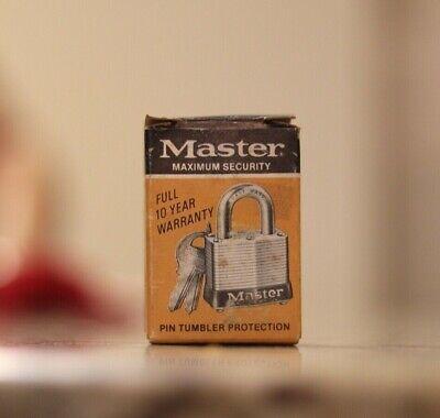 Master Lock Precision Tumbler Padlock with 2 Keys Lock Tumbler Padlock